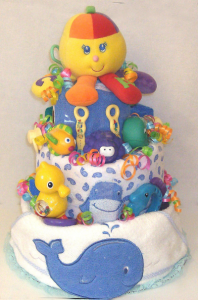 Diaper Cakes make fun and creative gifts
